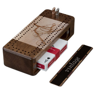 OLD TRICYCLE 1928 CRIBBAGE  BORD WOOD CRIBBAGE BOARD