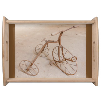 OLD TRICYCLE 1928 LARGE SERVING TRAY