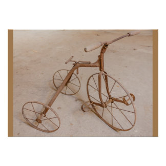OLD TRICYCLE 1928 VALUE POSTER PAPER