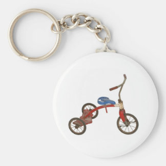 Old Tricycle Basic Round Button Keychain
