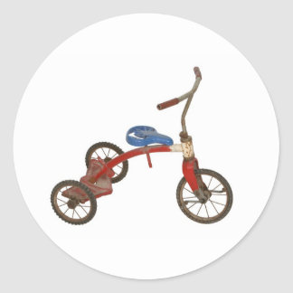 Old Tricycle Classic Round Sticker
