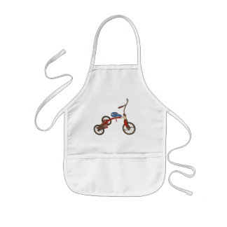 Old Tricycle Kids' Apron