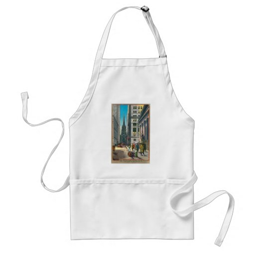 Old Trinity & Wall Street, New York Aprons