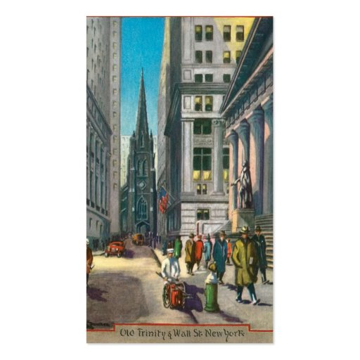 Old Trinity & Wall Street, New York Double-Sided Standard Business Cards (Pack Of 100)