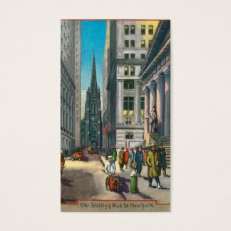 Old Trinity & Wall Street, New York Business Card
