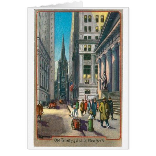 Old Trinity & Wall Street, New York Card