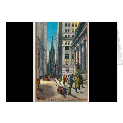 Old Trinity & Wall Street, New York Cards