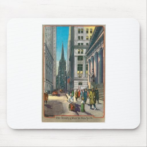 Old Trinity & Wall Street, New York Mouse Pad