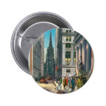 Old Trinity & Wall Street, New York Pinback Button