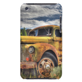 Old truck abandoned in field iPod touch case
