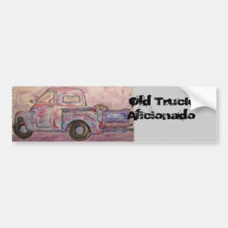 Old Truck Aficionado Car Bumper Sticker
