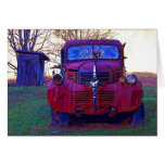 Old Truck and Outhouse Greeting Card
