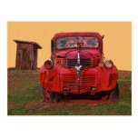 Old Truck and Outhouse Post Card
