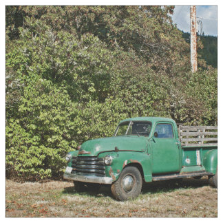 Old Truck at garden Fabric
