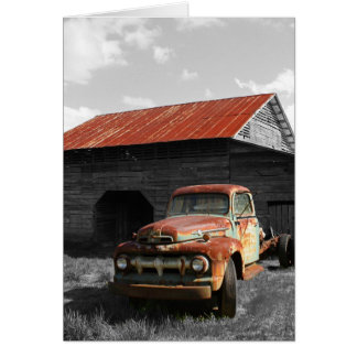 Old Truck b/w Cards