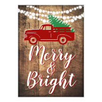 Old Truck Christmas Tree Holiday Party Invitations