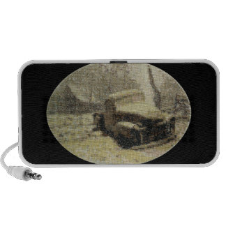 Old Truck Cross-stitch Travelling Speakers