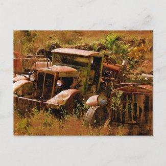 Old Truck, Ghost Town near Jerome, Arizona postcard