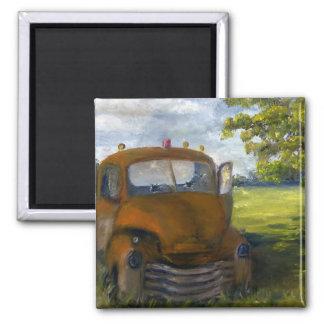 Old Truck in Louisiana Field, Fine Art Magnet