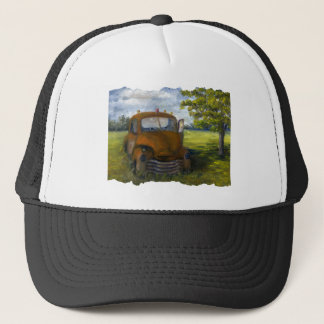 Old Truck in Louisiana Field, Fine Art Trucker Hat