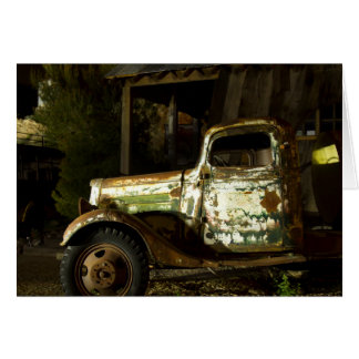 Old Truck - Light Painted Card