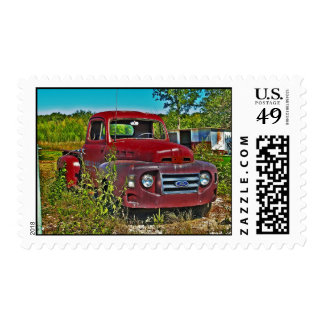 Old truck stamp