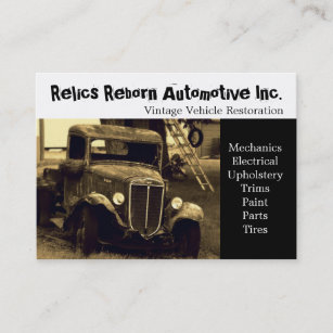 Truck repair business cards zazzle old truck repair shop business card colourmoves