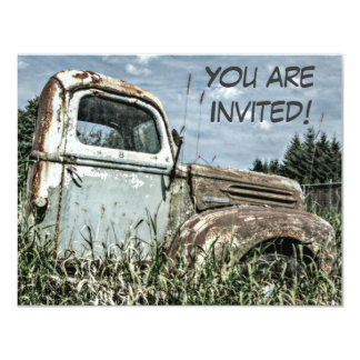 Old Truck Retirement Party Or Milestone Birthday Card