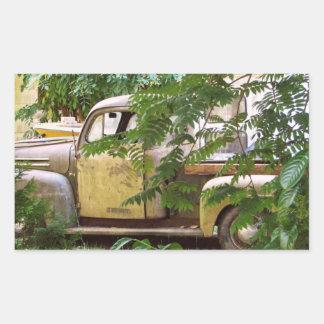 Old Truck Rectangular Sticker