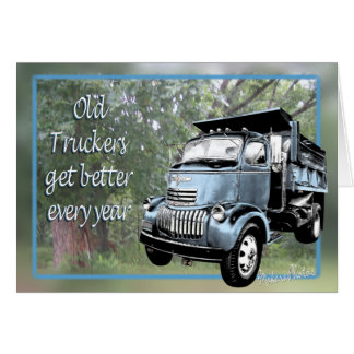 Old Truckers Card-csutomize