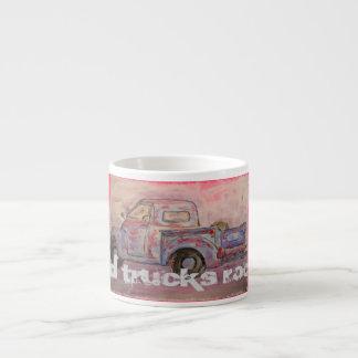 Old Trucks Rock Espresso Cup