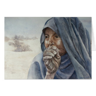 Old Tuareg woman, Timbuktu Greeting Card