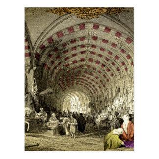 Old Turkish Grand Bazaar Postcard