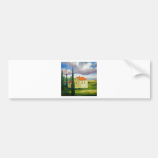 Old Tuscany Farmhouse Bumper Sticker