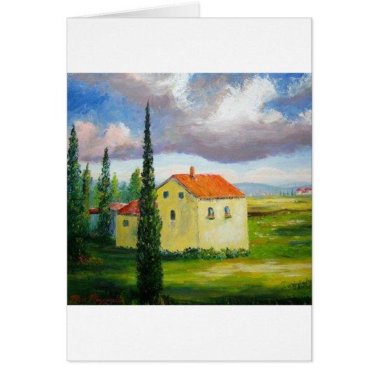 Old Tuscany Farmhouse Card