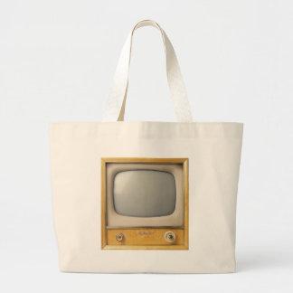 Old TV Canvas Bag