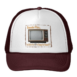 Old TV Cap Mesh Hats