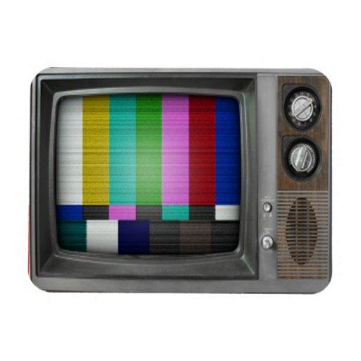 Old TV Rectangular Photo Magnet   Zazzle