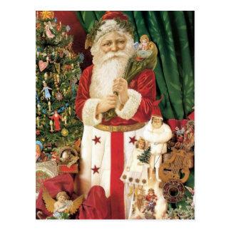 Old Tyme Santa Postcard