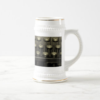 Old Typewriter Beer Stein