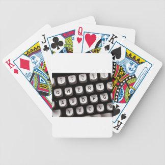 Old_Typewriter Bicycle Playing Cards