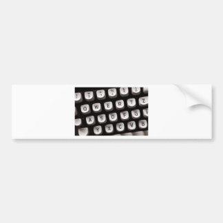 Old Typewriter Bumper Sticker