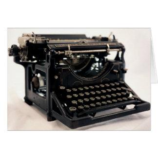 Old Typewriter Card
