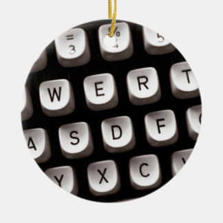 Old Typewriter Ceramic Ornament
