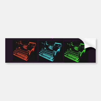 Old Typewriter Collage Bumper Sticker