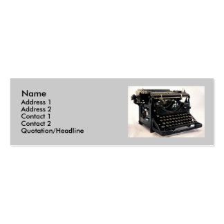 Old Typewriter Double-Sided Mini Business Cards (Pack Of 20)
