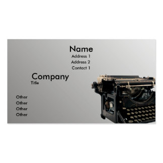 Old Typewriter Double-Sided Standard Business Cards (Pack Of 100)