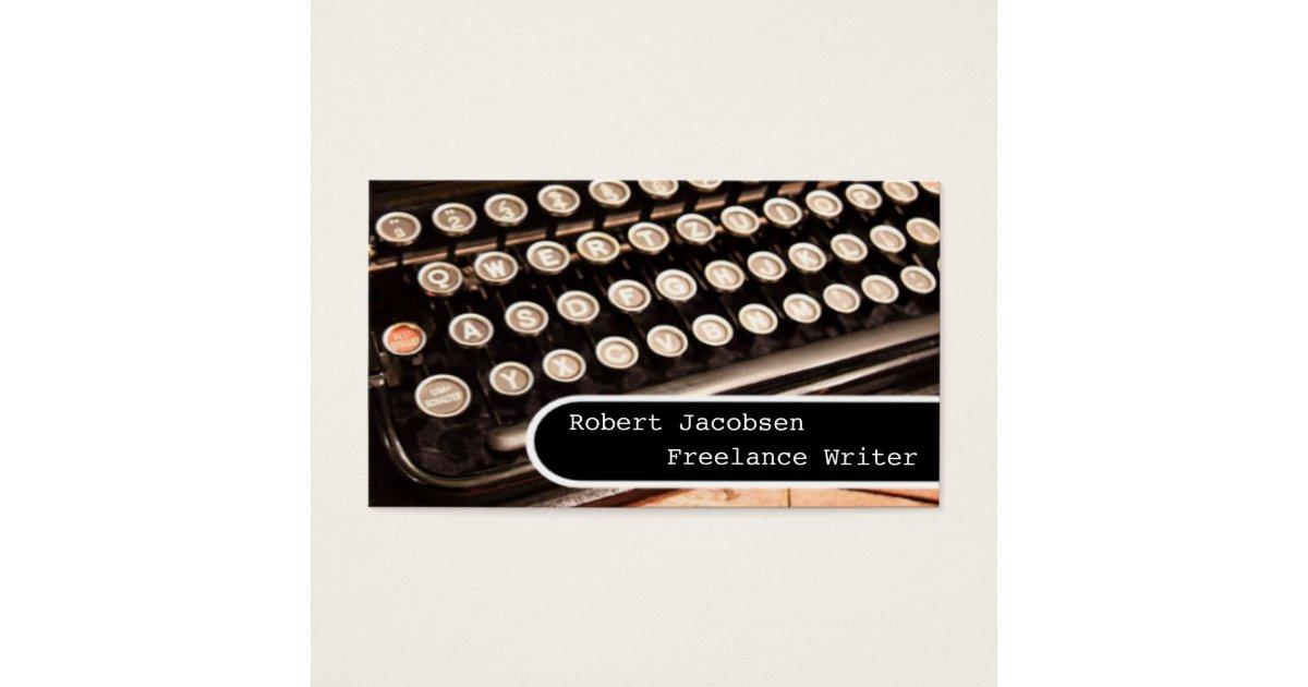 Old Typewriter Freelance Writer Business Cards | Zazzle.com
