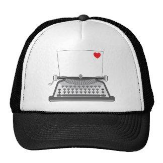 Old Typewriter Heart Trucker Hat