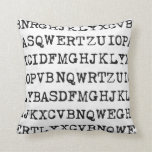 Old typewriter letters pillows